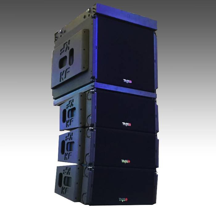 Dual 10 inch three way line array KF930 + KF930B