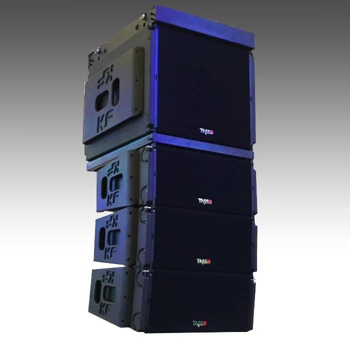 Dual 10 inch three way line array KF930 + KF930B